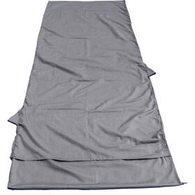 Basic Nature Mixed Sleeping Bag Liner Blanket Shape, anthracite